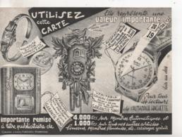 Cpa.Publicité.Artisans Réunis.Montres Tessor.coucous Carillons - Publicité