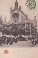 Bruxelles Eglise Ste Catherine Jour De Marché - Bauwerke, Gebäude