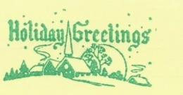 F023 EMA FREISTEMPEL METER Joyeux Noel Season Greetings Christmas CANADA Kitchener 1963 Green Color - Noël