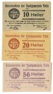 Austria Notgeld Lot / Set - TULLN X 3 - Austria
