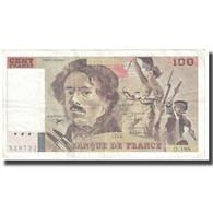 France, 100 Francs, Delacroix, 1990, P. A.Strohl-G.Bouchet-J.J.Tronche, TB - 1962-1997 ''Francs''