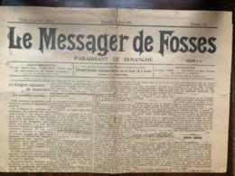 Fosses La Ville. Journal Le Messager De Fosses 1930 - Fosses-la-Ville