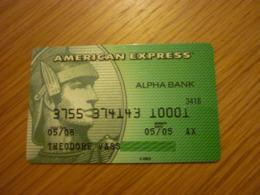 Greece AmEx American Express Old Expired Bank Credit Card (Alpha 3418) - Cartes De Crédit (expiration Min. 10 Ans)