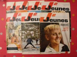 Lot De 7 J2 Jeunes De 1965. N° 1 à 7.  Delinx Mouminoux Brochard Gloesner Chery Rigot. à Redécouvrir - Magazines Et Périodiques