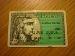 Greece AmEx American Express Old Expired Bank Credit Card (Alpha 2004) - Cartes De Crédit (expiration Min. 10 Ans)
