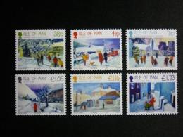 ISLE OF MAN, 2012 Winter Scenes Michel #1808-13 MNH Cv. 13,50€ - Isola Di Man