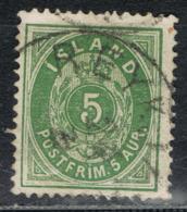 Island 13 A Gestempelt - 5 Aurar Ziffer 1882, Zähnung 14:13 1/2 - Oblitérés