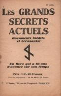 PROPAGANDE #110 WWII GUERRE 1939 1945 TRACT BROCHURE LES GRANDS SECRETS ACTUELS - 1939-45