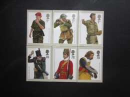 2007 BRITISH ARMY UNIFORMS STAMPS P.H.Q. CARDS UNUSED, ISSUE No. 303 - 1952-.... (Elizabeth II)