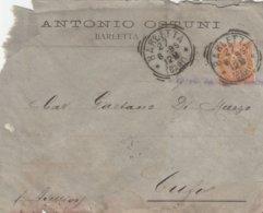 Barletta. 1895. Annullo Tondo Riquadrato BARLETTA (BARI), Su Lettera Affrancata Con C. 20 - Storia Postale