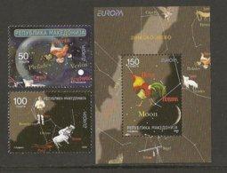 """MACEDONIA / MAKEDONIA / MAKEDONIEN  - EUROPA 2009  - TEMA  """"ASTRONOMIA"""" - SET + SOUVENIR SHEET  PERFORATED - Europa-CEPT"""