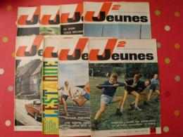 Lot De 8 J2 Jeunes De 1964. N° 19 à 26. Jacques Anquetil Piquemal.  Delinx Mouminoux Brochard Gloesner Chery Rigot. - Magazines Et Périodiques