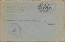 1953 , ASTURIAS , LUARCA - VIAVÉLEZ , FRANQUICIA MARINA DE LUARCA - FECHADOR DE LA CARIDAD AL DORSO , CONSERVA TEXTO - 1931-Hoy: 2ª República - ... Juan Carlos I