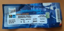 Basketball Ticket EURO Basket 2005 Final 25.9.2005 - Match Tickets