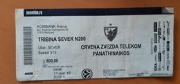 Basketball Ticket EURO LEAGUE Crvena Zvezda Belgrade : Panathinaikos 11.3.2016 - Match Tickets