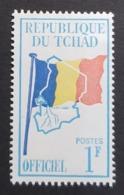 1966 Service 1F,, Republique Du Tchad, MNH - Tsjaad (1960-...)