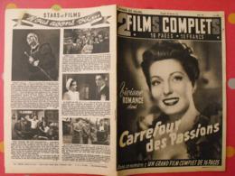 """Revue """"film Complet"""" N° 19 De 1949. Carrefour Des Passions. Viviane Romance. Star Et Films - Cine / Televisión"""