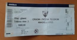 Basketball Ticket EURO LEAGUE Crvena Zvezda Belgrade : Anadolu Efes 26.2.2016 - Match Tickets