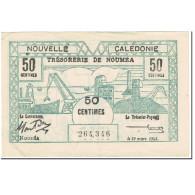 Billet, Nouvelle-Calédonie, 50 Centimes, 1943, 1943-03-29, KM:54, TB+ - Nouméa (Nieuw-Caledonië 1873-1985)