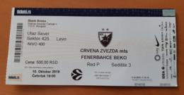 Basketball Ticket EURO LEAGUE Crvena Zvezda Belgrade : Fenerbahce 10.10.2019 - Match Tickets