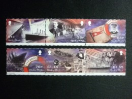 ISLE OF MAN, 2012 100 Years Of Titanic Downfall Michel #1762-67 MNH Cv. 13,00€ - Isola Di Man
