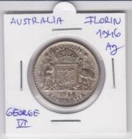Australia 1 Florin -  Silver- George VI. (1946) - Moneda Pre-decimale (1910-1965)