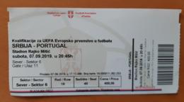 SOCCER Football Ticket World Cup UEFA EURO 2020 Serbia : Portugal 7.9.2019 - Match Tickets