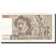 France, 100 Francs, Delacroix, 1991, P. A.Strohl-G.Bouchet-J.J.Tronche, TB - 1962-1997 ''Francs''