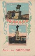 CPA Brescia - Saluti Da Brescia (avec 2 Vues : Mon. Garibaldi / Mon. Arnaldo Da Brescia - Brescia