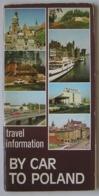Poland Pologne By Car To Poland En Voiture En Pologne Tourist Guide Guide Touristique '70s - Dépliants Turistici