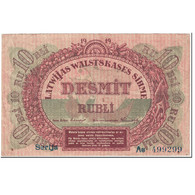 Billet, Latvia, 10 Rubli, 1919, Undated (1919), KM:4a, TB - Letland