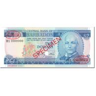 Billet, Barbados, 2 Dollars, 1980, Undated (1980), Specimen, KM:30s, NEUF - Barbados