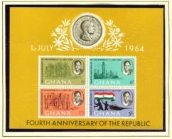 GHANA  -  1964 Republic Miniature Sheet Unmounted/Never Hinged Mint - Ghana (1957-...)