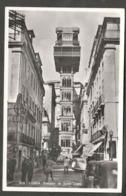 Cartão Postal. Portugal. Lisboa. Elevador De Santa Justa. Animação. Carros Antigos. - Monuments