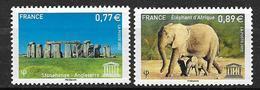 France 2012 Service N° 154/155 Neufs UNESCO à La Faciale - Service
