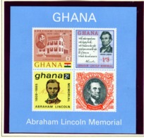 GHANA  -  1965 Lincoln Miniature Sheet Unmounted/Never Hinged Mint - Ghana (1957-...)