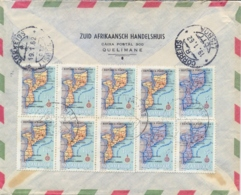 Mozambique 1962 Registered Airmail Cover From Quelimane To Portugal With Maps 7 X 1 $ + 3 X 5 $ - Geografia