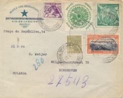 Brazil 1937 Cover To Netherlands With 200 Reis + 4 X 300 Reis Esperanto Congress And 50th Anniversary - Esperanto