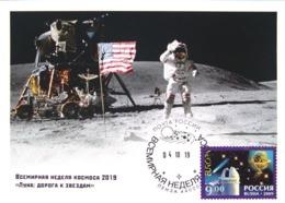 SOUVENIR Maximum Cards World Space Week Penza 2019 - 1992-.... Föderation