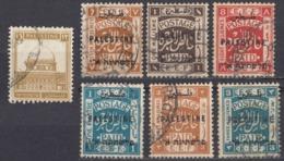 PALESTINA, Mandato Britannico - Lotto Composto Da 7 Valori Usati: Yvert 37, 39, 42, 50, 54, 55 E 72. - Palestina