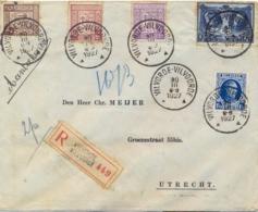 Belgium Belgique 1927 Registered Cover To Netherlands With Against Tuberculosis 3 X 5 C. + 150+25 C. + King 1,50 F. - Malattie