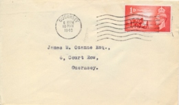 Great Britain 1948 FDC Posted From/to Guernsey With 1 D. 3th Anniversary Liberation Of The Channel Islands - Seconda Guerra Mondiale
