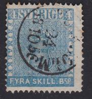 Sweden 1855 4sk Bco Blue SG2 Fine Cds Used, Cat £130 - Oblitérés
