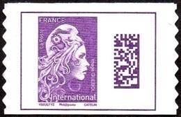 Autoadhésif(s) De France N° 1656 ** Datamatrix. Marianne De L'engagé International PRO - France