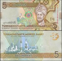 Turkmenistan 5 Manat. 2009 Unc. Banknote Cat# P.23a - Turkmenistan