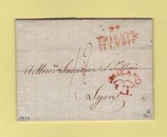 Trieste Illyrie PP - 1813 - Milano - Destination Lyon - ...-1850 Préphilatélie