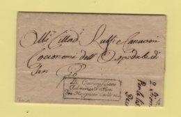 La Commission Administrative Des Hospices Civils - Courrier De Turin - Courrier De L'an 10 - ...-1850 Préphilatélie
