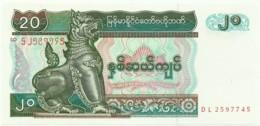 Myanmar - 20 Kyats - ND ( 1994 ) - Unc. - Pick 72 - Serie DL - Myanmar