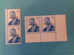"""4 Timbres """"SPECIMEN"""" Albert II Rare Neuf Sch MNH - Belgique"""