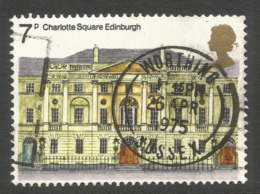 GREAT BRITAIN. QE2. 7p CHARLOTTE SQUARE USED WORTHING POSTMARK - 1952-.... (Elizabeth II)